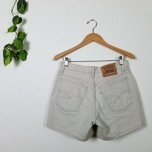 Vtg 90s Levi's Khaki Denim Shorts